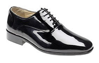 How smart will these patent leather evening shoes look for a special dinner or ball!
