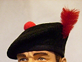 The Black Watch Balmoral beret.