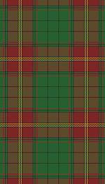 The Ulster tartan in what were thought to have been its original colours.